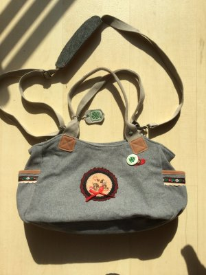 Adelheid Carry Bag light grey-red