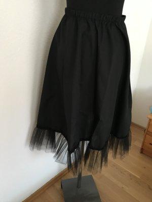 Enaguas negro tejido mezclado