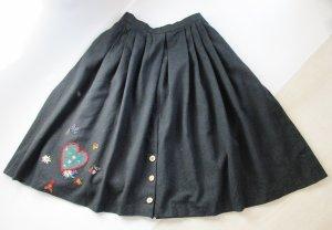 Vintage Traditional Skirt multicolored mixture fibre