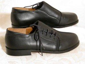 Trachten Schuhe Schnürschuhe Komplett Leder Schwarz UNIKAT Größe 37 4