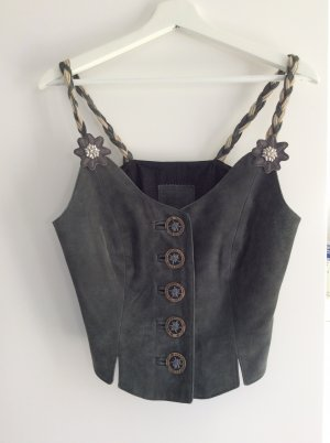 Traditional Camisole green grey leather