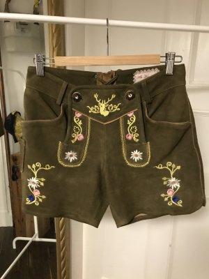 Trachten Shorts aus Wildleder von Mrs. Foxworthy Gr. 34