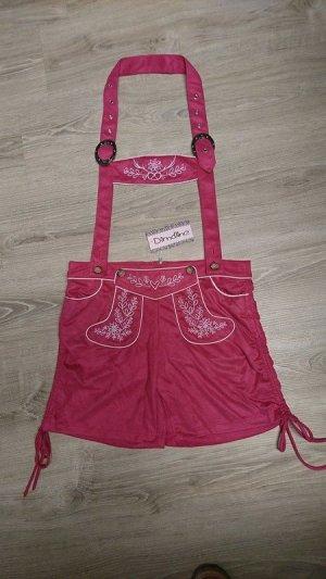 Folkloristische broek roze Polyester
