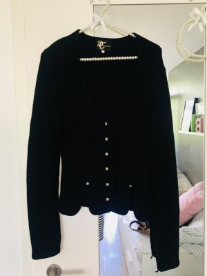Trachten Deiser Veste bavaroise noir-argenté