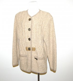 Traditional Vest grey brown new wool