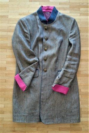 Trachten Trachtenjacke Blazer Longblazer taupe pink navy Leinen Premium von Lodefrey Gr. 42