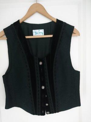 Perry Landhaus Traditional Vest black linen