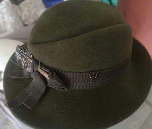 Vilten hoed olijfgroen