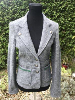 Trachten-Woll-Jacke grau