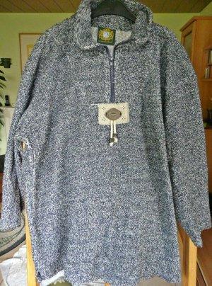 Trachten-Wollpullover in jeansblau Größe ca. 42/44 bzw. XL
