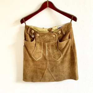 Traditional Skirt light brown-brown leather