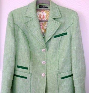 Clément Veste bavaroise vert clair-vert foncé lin