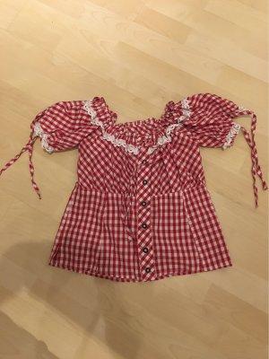 Blusa tradizionale rosso-bianco