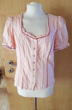 Spieth & Wensky Folkloristische blouse wolwit-abrikoos