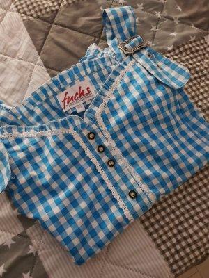 Fuchs Trachtenmoden Folkloristische blouse lichtblauw
