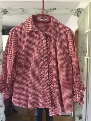 Country Line Folkloristische blouse rood-wit