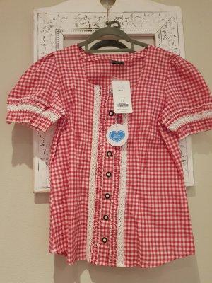 Laura Torelli Folkloristische blouse wit-rood