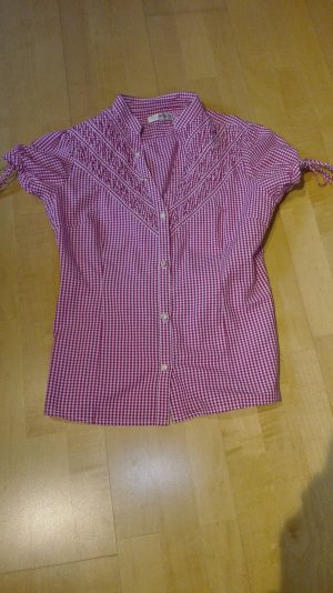 Almsach Traditional Blouse white-pink cotton