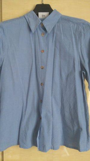 Folkloristische blouse lichtblauw