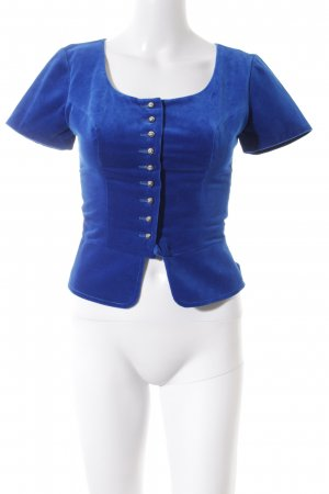 Trachtenbluse blau Country-Look