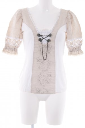 Trachtenbluse creme-beige Country-Look