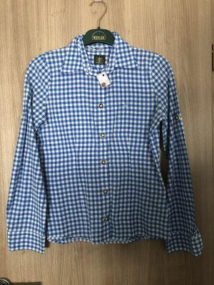 OS Trachten Traditional Blouse white-blue