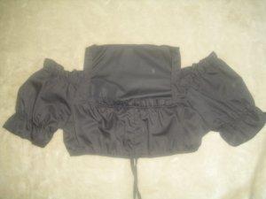 Trachtenbluse / Dirndl Bluse Schulterfrei in schwarz Größe M (Neu)