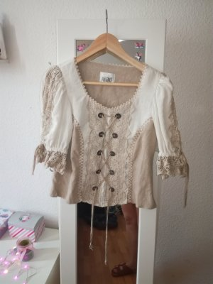 Hagro Folkloristische blouse beige
