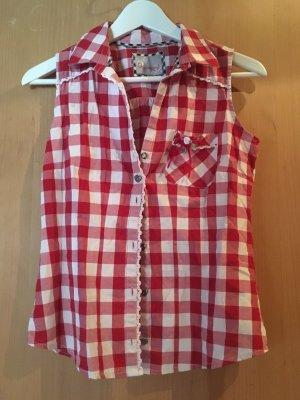Stockerpoint Folkloristische blouse wit-rood