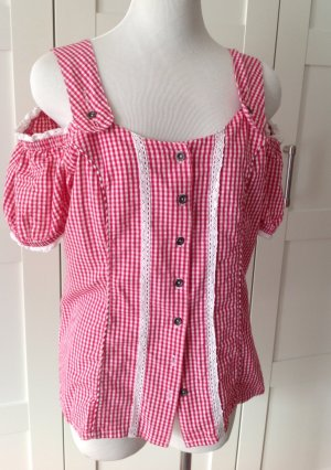 Folkloristische blouse rood-wit