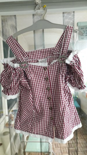 Country Lady Traditional Blouse white-lilac