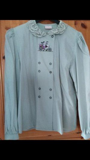 Folkloristische blouse munt