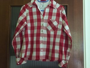 Spieth & Wensky Traditional Blouse red-white cotton