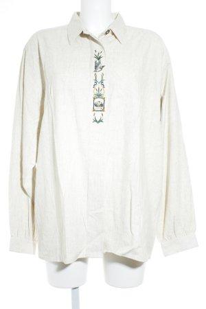 Folkloristische blouse licht beige gestippeld Geborduurde versieringen