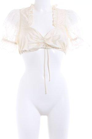 Folkloristische blouse licht beige romantische stijl