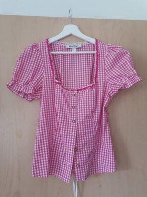 Folkloristische blouse roze