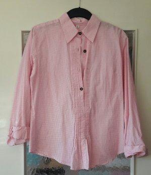 Trachtenbluse rosa kariert