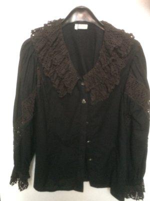 Hess Frackmann Blouse bavaroise noir coton