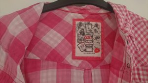 Trachtenbluse, Trachtenhemd, pinke Bluse, kariert pink, Karobluse