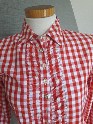 Almsach Blusa folclórica blanco-rojo