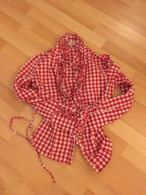 Almsach Blouse wit-donkerrood