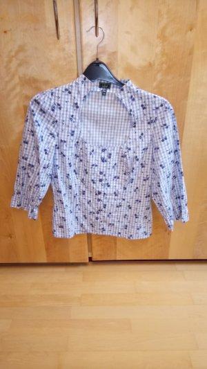 Luis Steindl Folkloristische blouse wit-lichtblauw