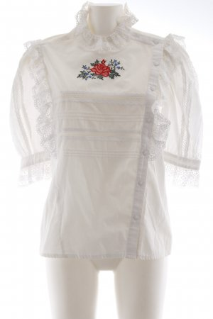 Folkloristische blouse wit casual uitstraling