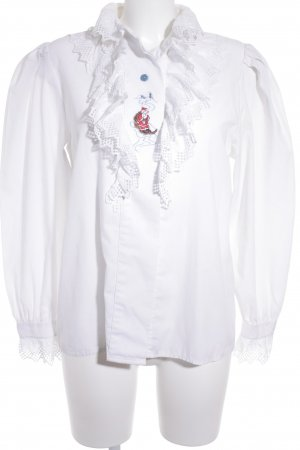 Folkloristische blouse wit extravagante stijl