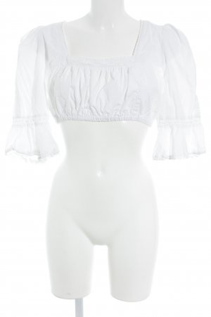 Blusa folclórica blanco estilo extravagante