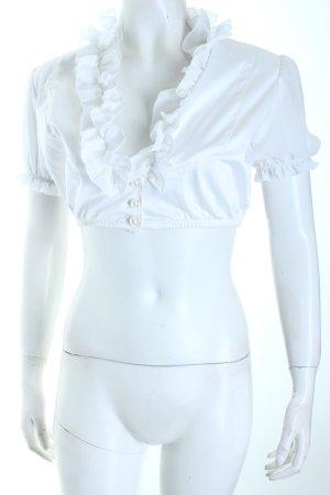 Folkloristische blouse wit klassieke stijl