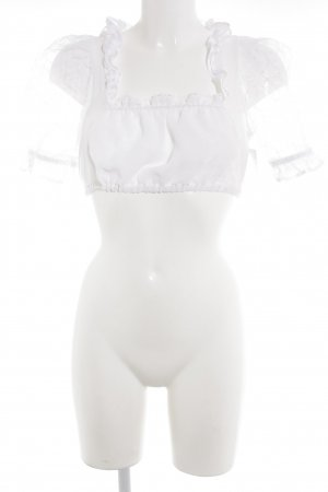 Blusa tradizionale bianco look trasparente