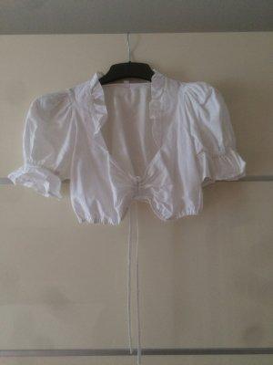 Trachtenbluse Wiesn-Bluse weiß mit Kragen