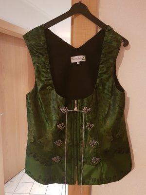 Chaleco folclórico verde oscuro