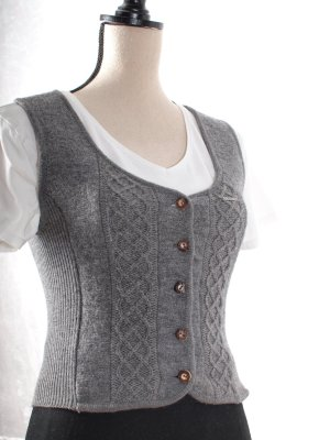 Geiger Traditional Vest grey new wool